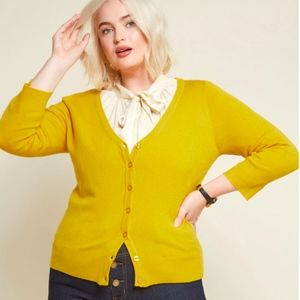 ModCloth - Charter School Cardigan in Goldenrod